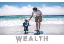 wealth-rich-motivational-quote-dad-plays-with-son-beach-inspirational-picture