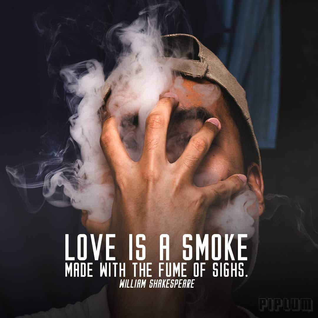 Love-quote-Mans-face-covered-with-his-hand-and-by-dense-smoke