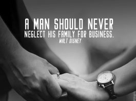 Family quote. Man is holding his wife's hand.