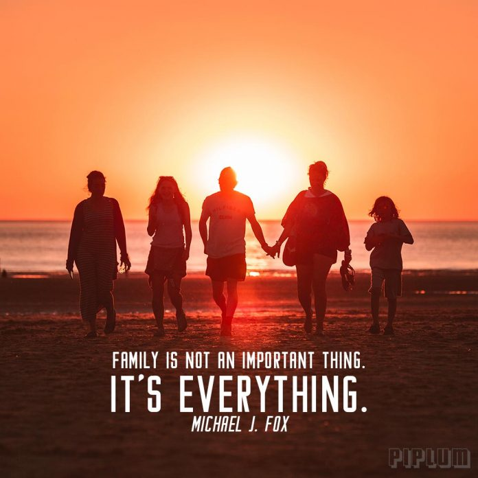 Family Is Not An Important Thing Its Everything Michael J Fox