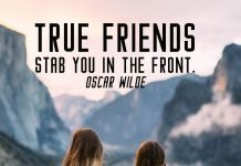 Friendship quote. 2 true girlfriends looking to the mountains.
