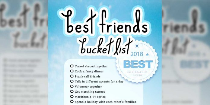 best friend bucket list. Picture.
