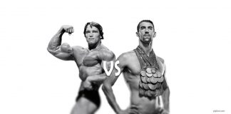 Arnold Schwarzenegger vs Michael Phelps. Training with body weight