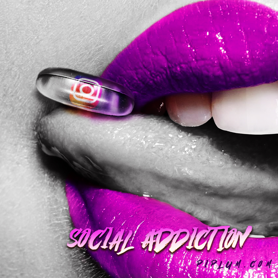 Social-addiction-quote.-Instagram-pill-on-the-purple-lips.-Piplum