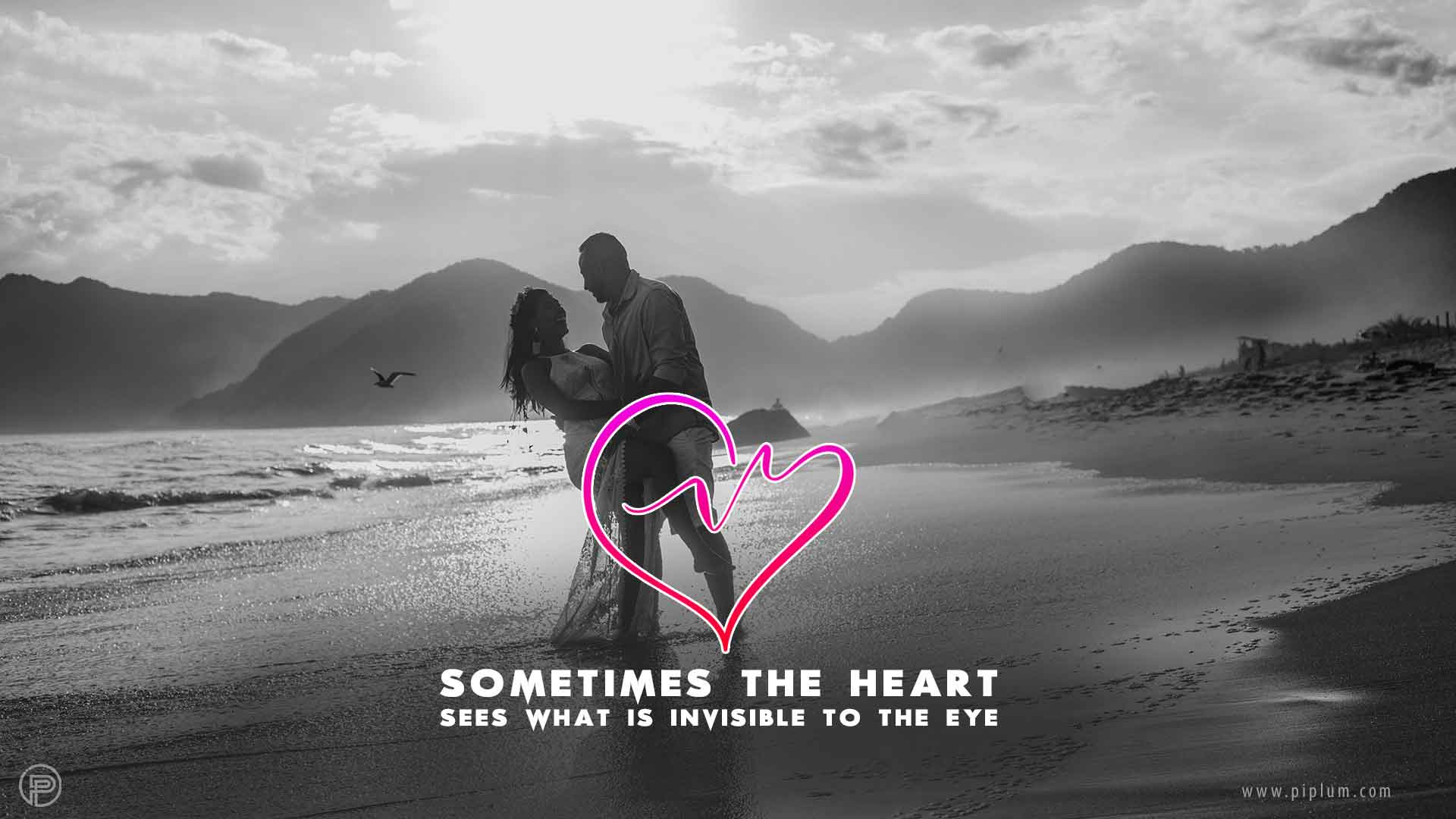 Heart-Sees-What-Is-Invisible-To-The-Eye-lovers-beach
