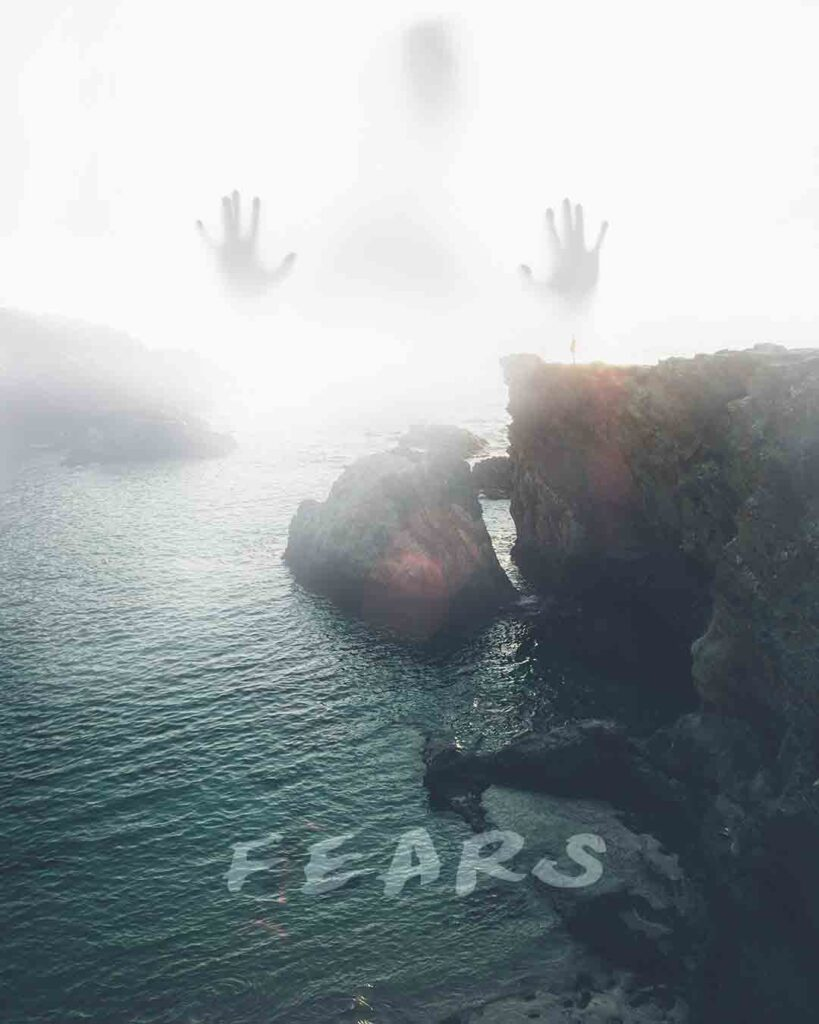 Fears. Motivational Image Quote.