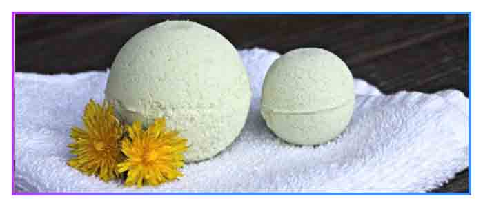 home-made-dandelion-bath-bomb