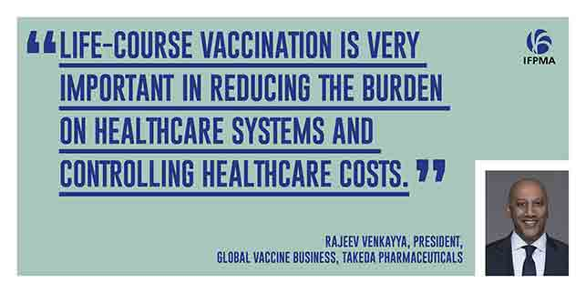 COVID vaccine quote. Vaccination is very important in reducing the burden on healthcare systems and controlling healthcare costs.