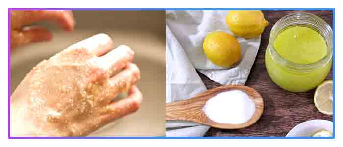 Lemon-sugar-scrubbing-for-softer-skin